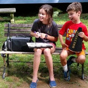 2 kids w clapboard mega
